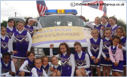 Enfield Blaze Cheerleaders