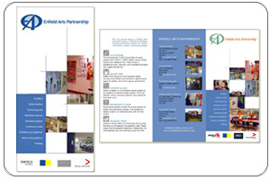 Enfield Arts Partnership Trifold Leaflet