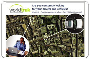 WorldTrak Postcard Design